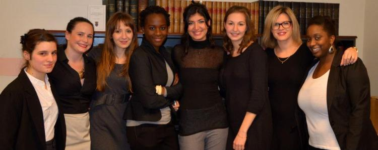 De gauche à droite : Olivia Billioque, Marine François, Lamia Baba, Valérie Kubwimana, Clara Maghani, Agathe Plantier, Morgane Béranger et Aïssata M'Baye